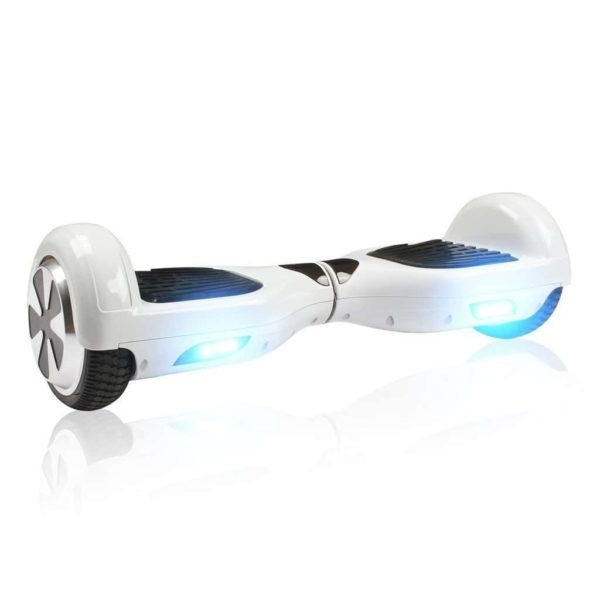 6.5 inch white hoverboard with LED flash lights