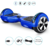Blue hoverboard with carry bag