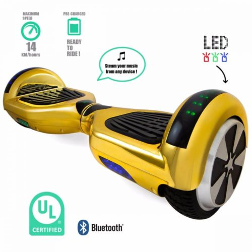 Gold Colour Hoverboard with information