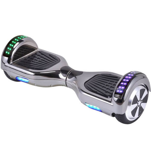 Hoverboard Chrome Silver colour with LED
