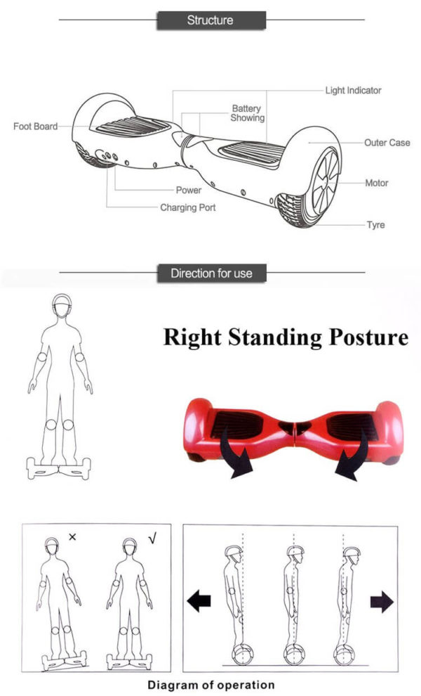 Hoverboards Balancing instructions