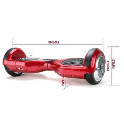 Red Hoverboards Measurement