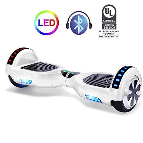 hoverboard with bluetooth white