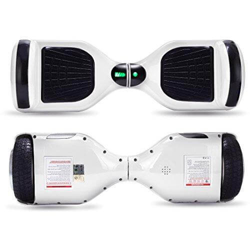 small hoverboards front and back white
